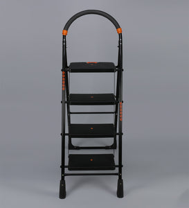 Parasnath Black Diamond Heavy Folding Ladder With Wide Steps 4 Steps 4.1 Ft Ladder - PARASNATH MADE IN INDIA