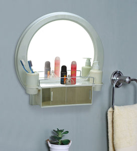 PARASNATH Prime Beautiful Decor Designer Plastic Bathroom Cabinet Mirror - PARASNATH