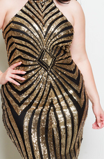Party Up Sequin Dress (Black/Gold)