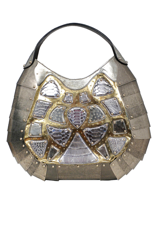 RARE LIMITED EDITION SILVER ARMOR BAG 2007
