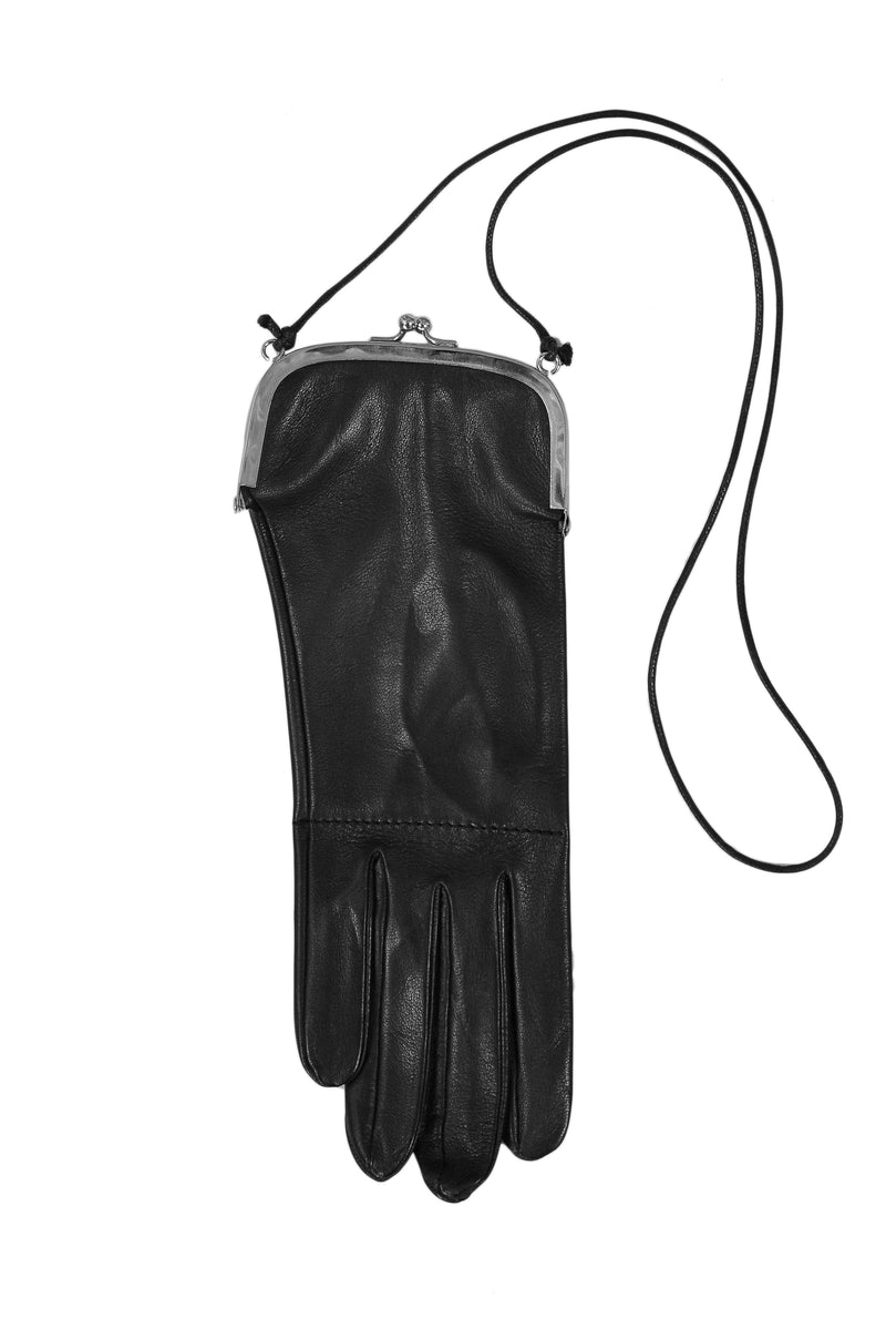 MARGIELA BLACK LEATHER GLOVE BAG 1999