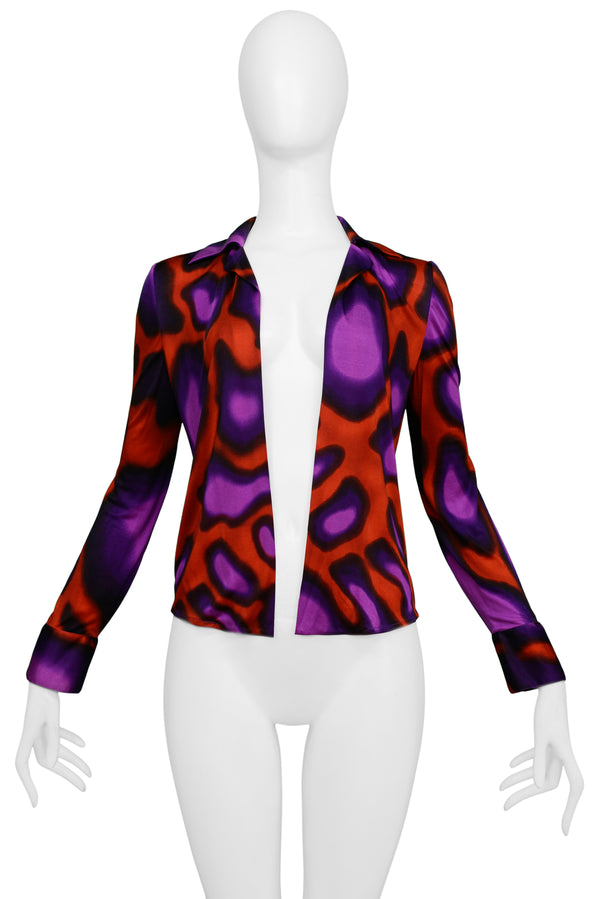 VERSACE RED & PURPLE PSYCHEDELIC TOP