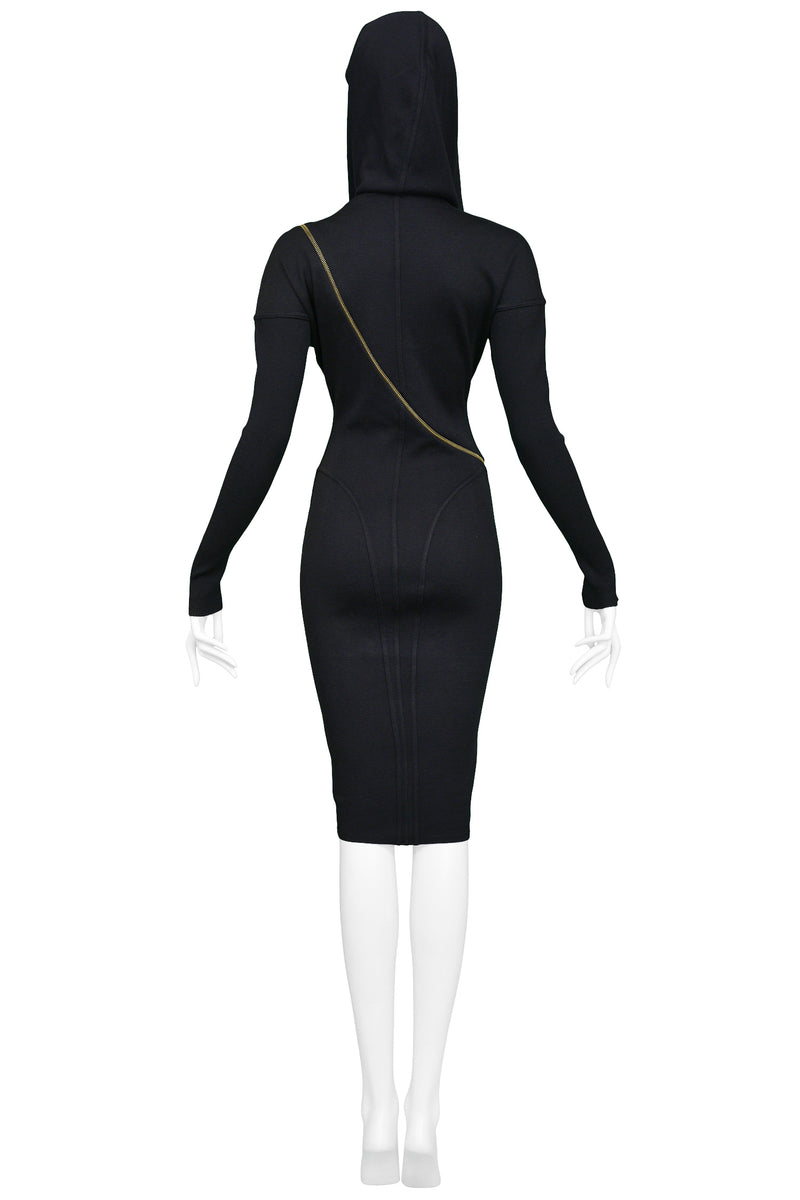 ALAIA ICONIC HOODED ZIPPER DRESS 1986