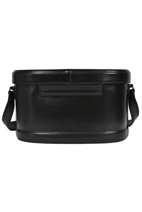 ALAIA BLACK LEATHER PILL BOX PURSE 1988