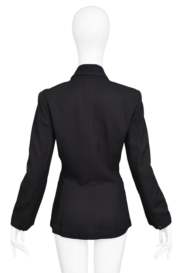 ALAIA BLACK DOUBLE BREASTED BLAZER