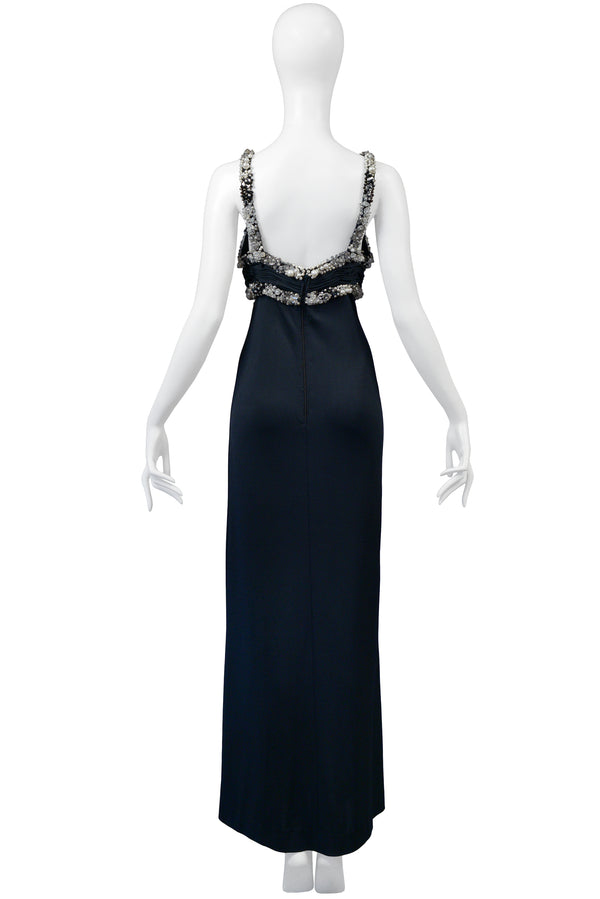 AZZARO BLACK BEADED GOWN
