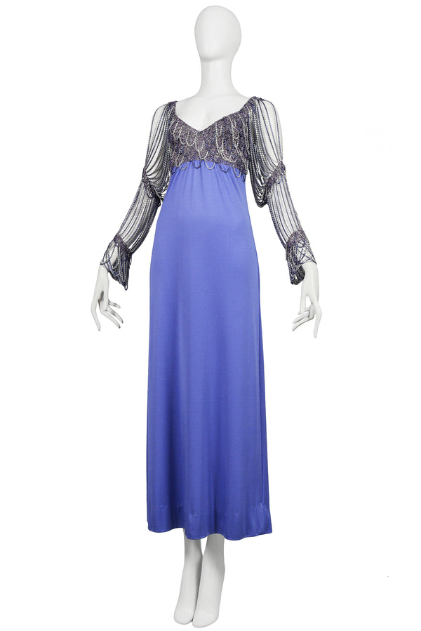 AZZARO ICONIC 1970S CHAIN GOWN