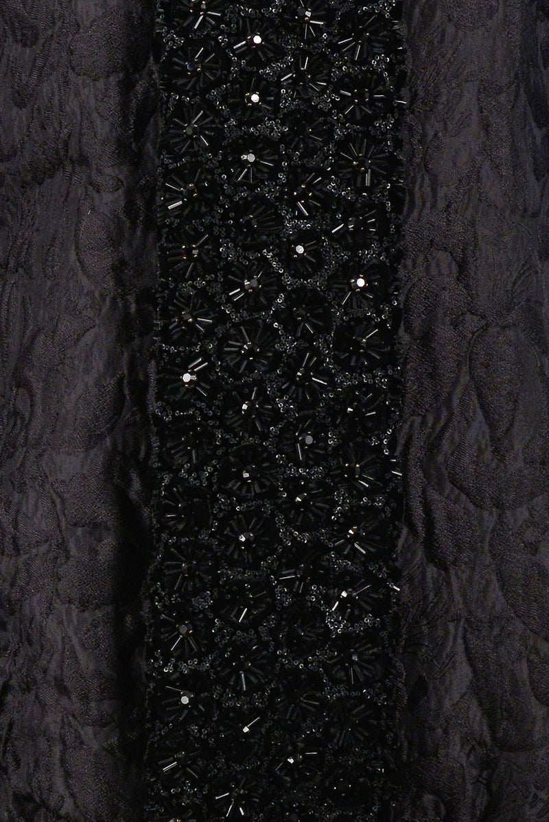 BALENCIAGA BLACK JACQUARD BEADED EVENING JACKET