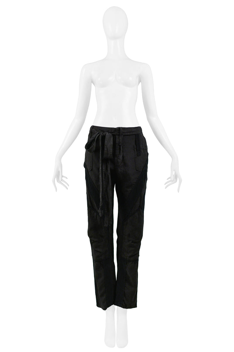 BALENCIAGA BY GHESQUIERE BLACK CARGO PANTS 2002