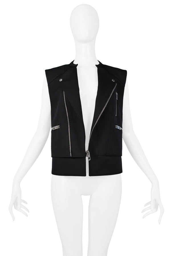 BLACK MOTORCYCLE ZIPPER VEST SS 2011