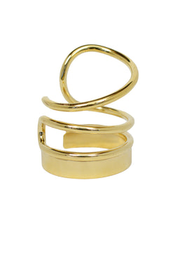 BALENCIAGA GOLD WIRE METAL CUFF 2013