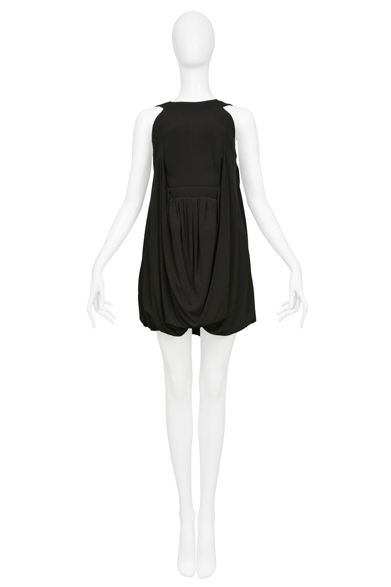 BALENCIAGA BLACK COCKTAIL MINI DRESS 2007