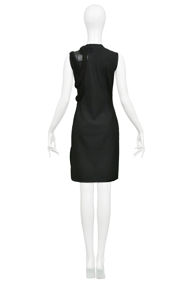 BALENCIAGA EARLY BLACK PATCHWORK SHIFT DRESS 1990S