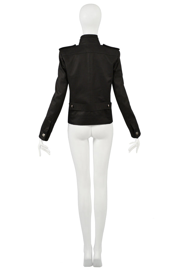 BALENCIAGA BY GHESQUIERE BLACK MILITARY JACKET 2007