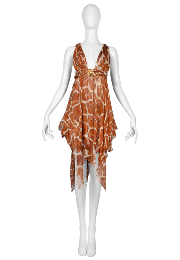 CAVALLI GIRAFFE HALTER DRESS 2006