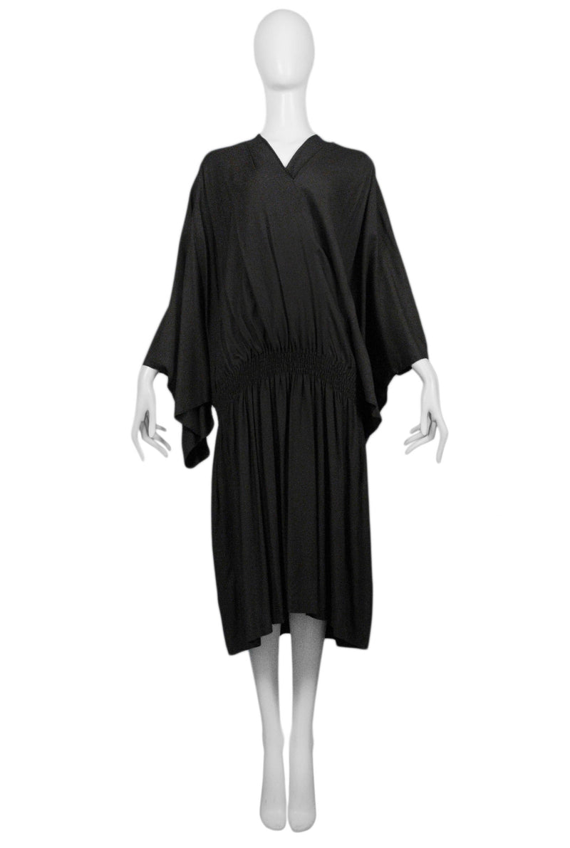 CDG DARK BROWN KIMONO SLEEVE DRESS WITH ELASTIC 1982
