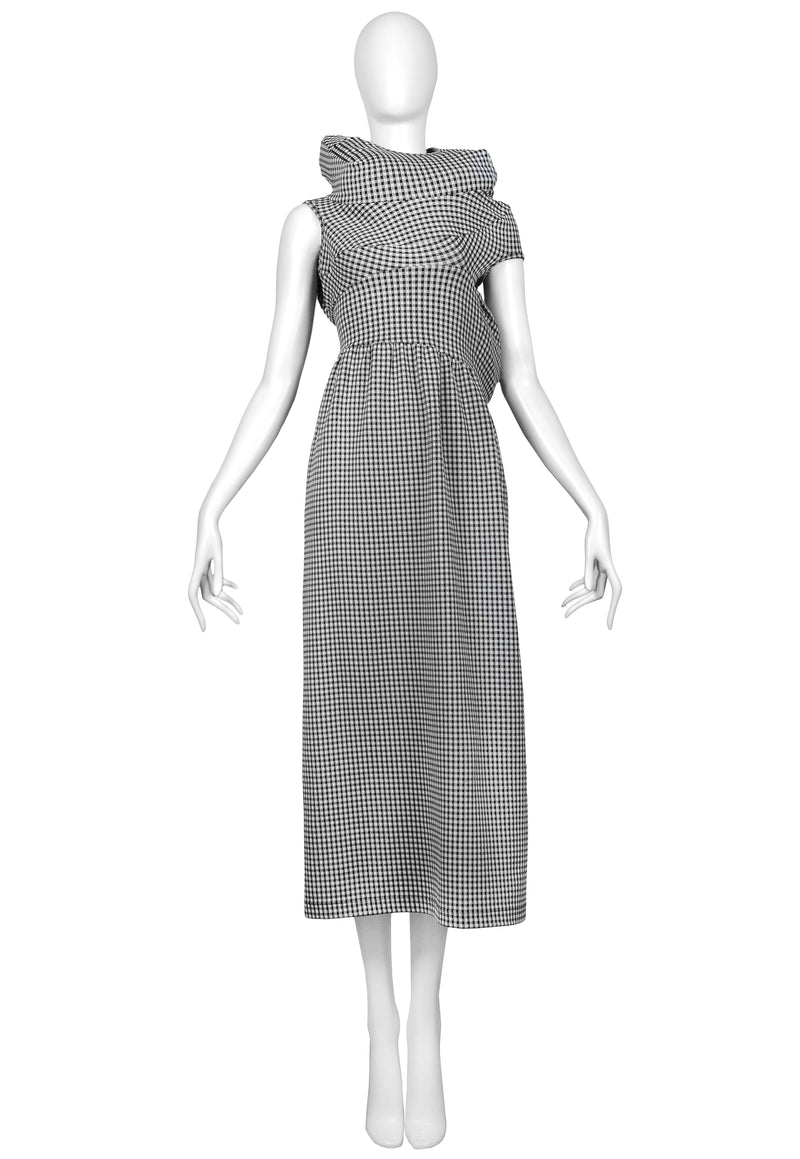 CDG BLACK & WHITE GINGHAM LUMPS & BUMPS COLLECTION DRESS 1997