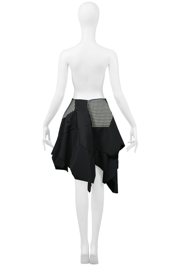 CDG BLACK & WHITE CHECK FOOTBALL SKIRT 2008