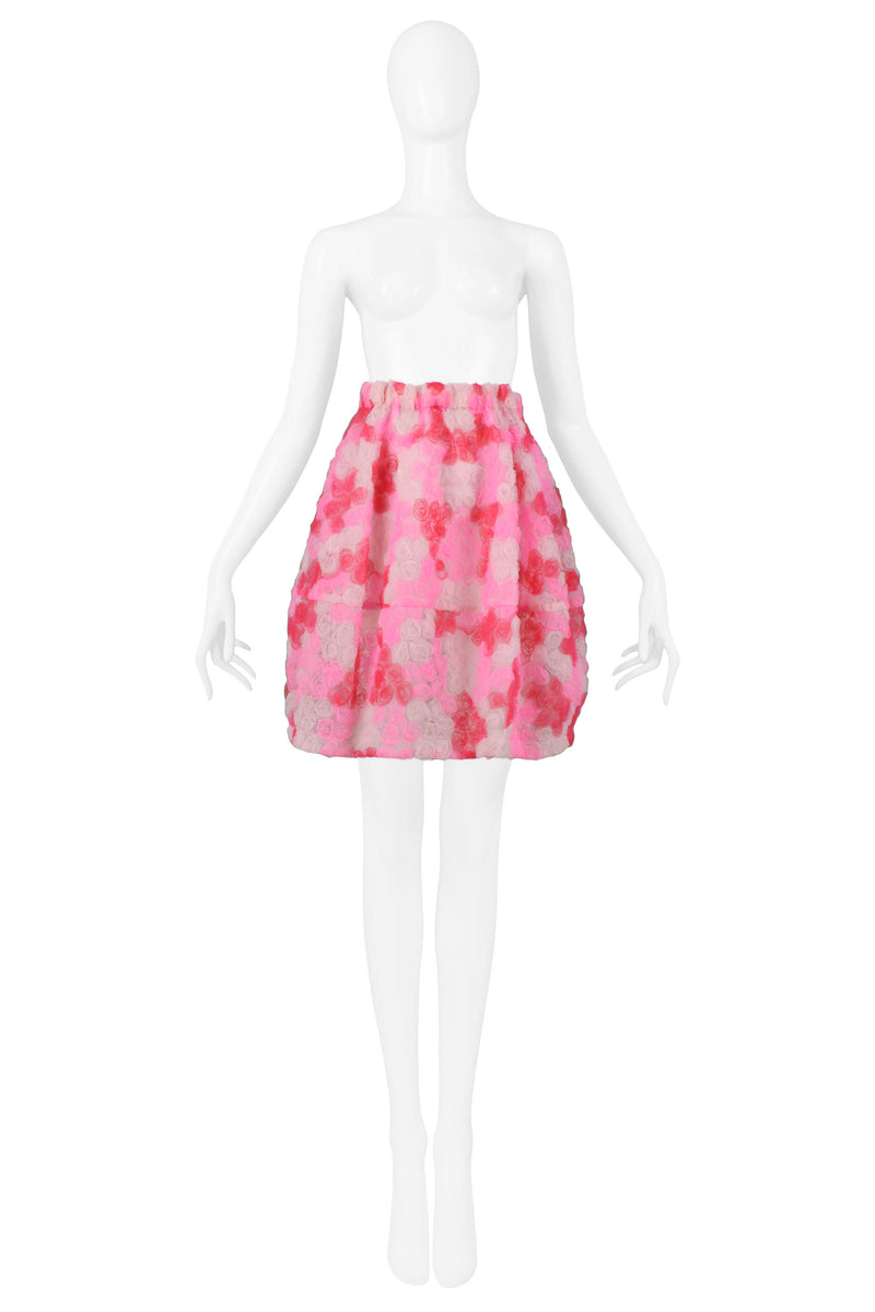 CDG PINK ROSE TULLE SKIRT 2008