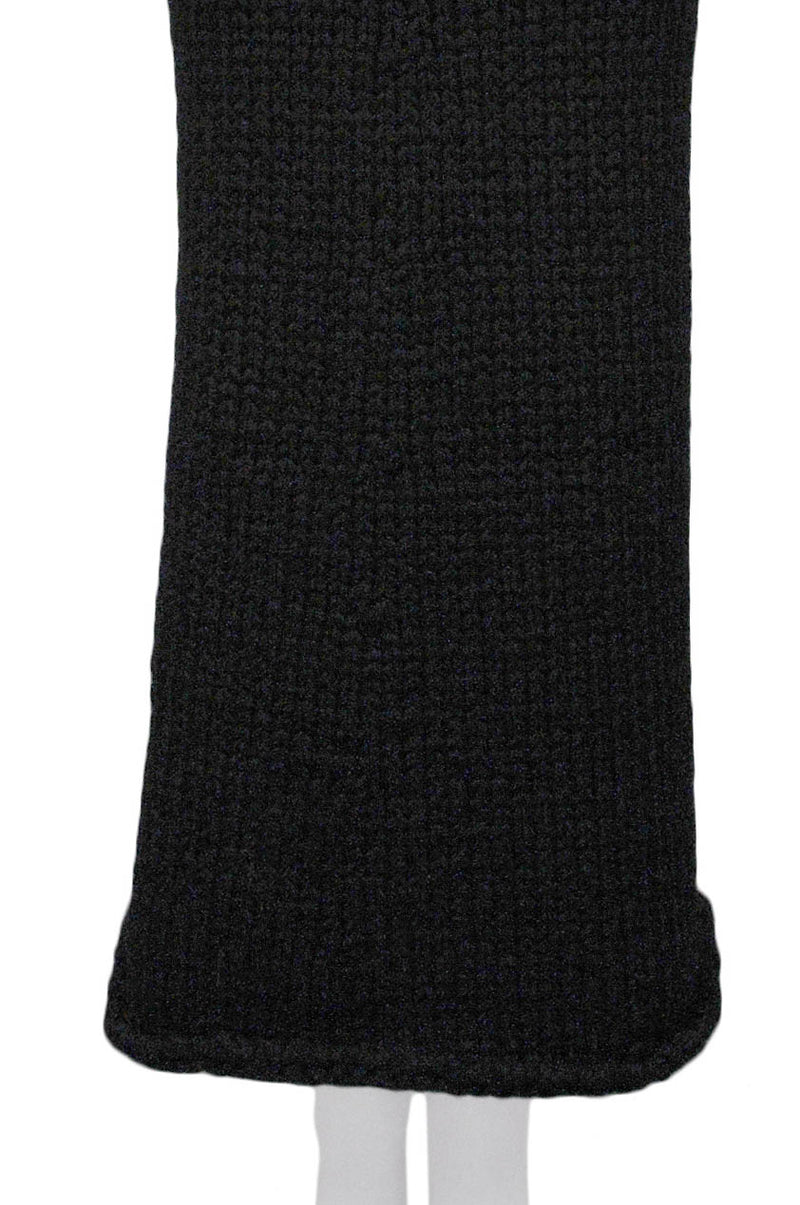 CDG CHUNKY BLACK KNIT SKIRT 1997
