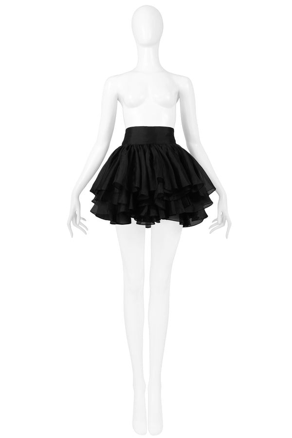COMPLICE BY DOLCE & GABBANA BLACK THREE TIER SKIRT 1991