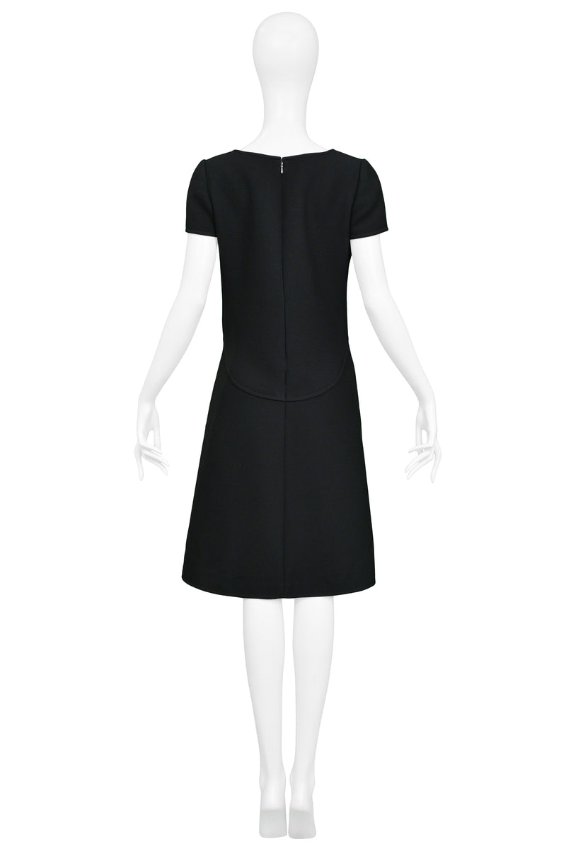 COURREGES BLACK WOOL MOD DRESS