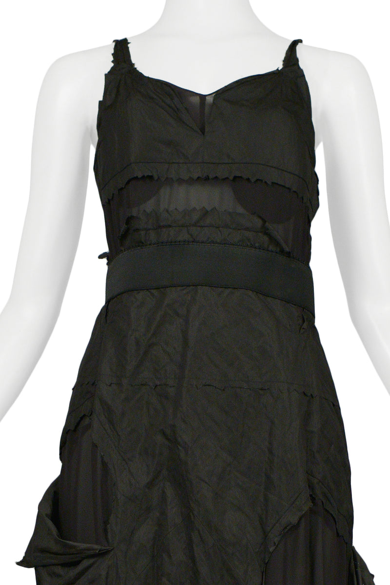 "DIOR BLACK TAFFETA ""HOBO"" PARTY DRESS"