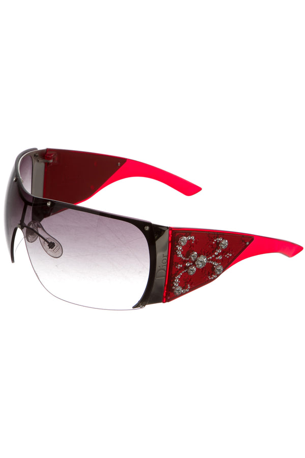 DIOR RED GRAND SALON SUNGLASSES