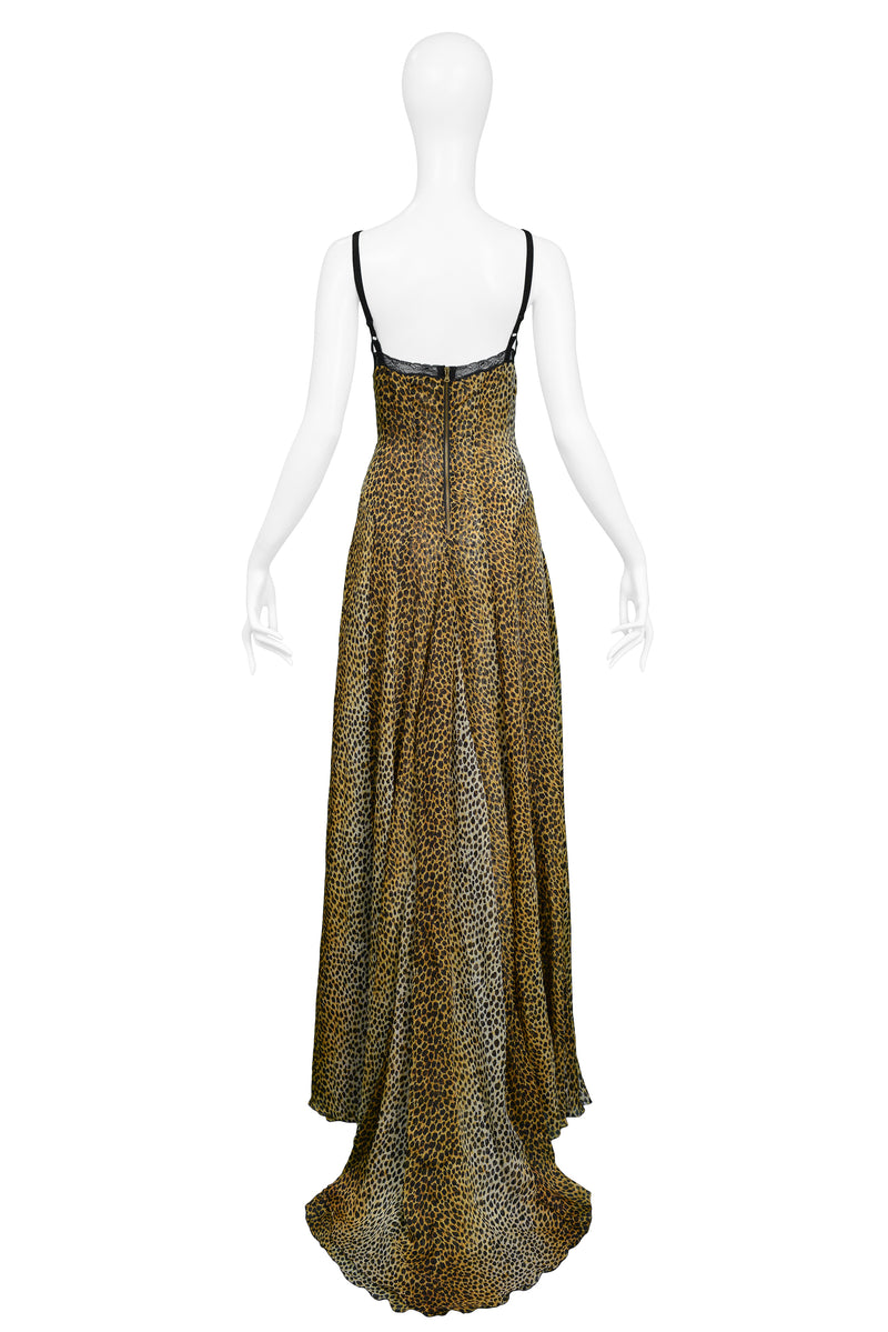 DOLCE D&G LEOPARD GOWN WITH TRAIN
