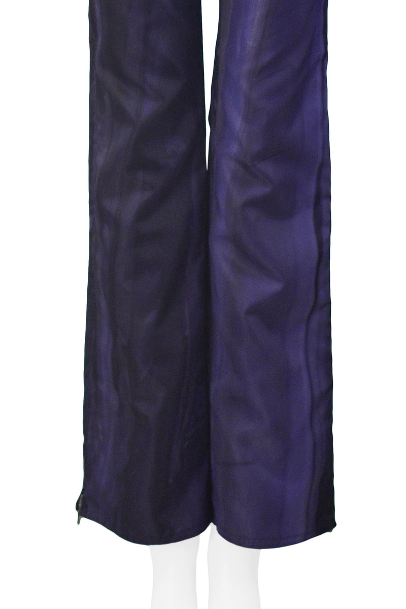 DIOR BLUE OVER DYE BOOT CUT TROUSERS 2001