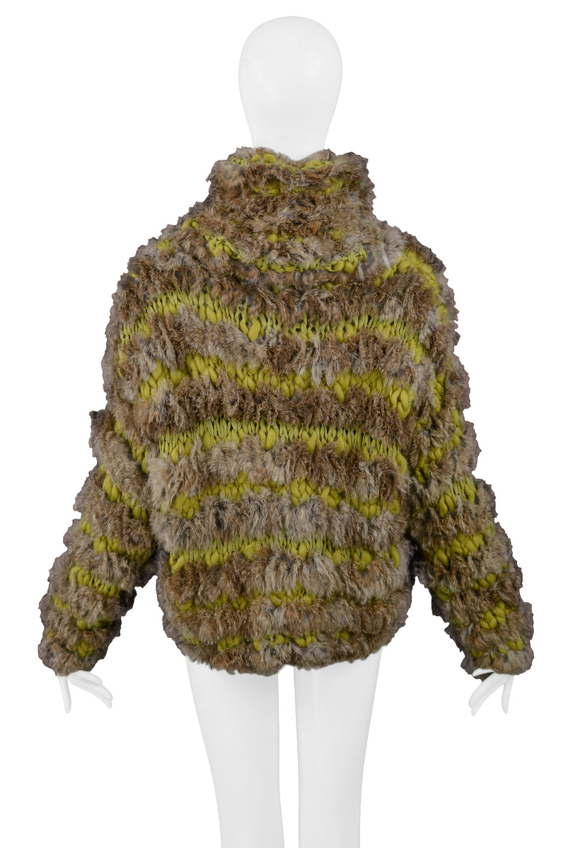 DIOR OVERSIZE KNIT & RABBIT FUR SWEATER 2000