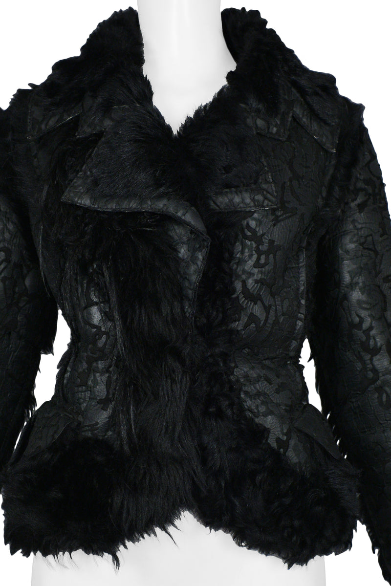DIOR BLACK FUR & SHEARLING JACKET 2006