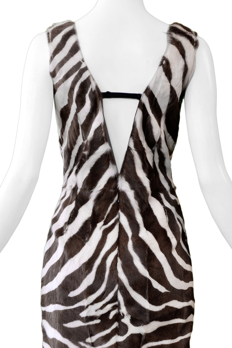 DOLCE ZEBRA PRINT MINK DRESS
