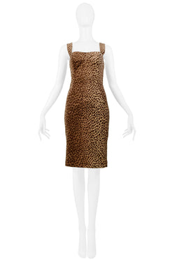 DOLCE ICONIC VELVET LEOPARD PRINT DRESS 1996-97