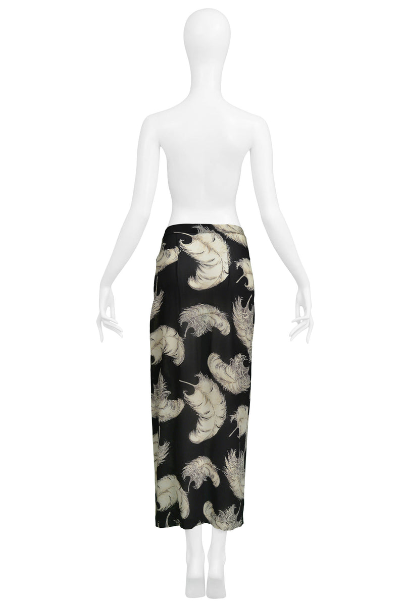 DOLCE BLACK & WHITE FEATHER SKIRT 1997