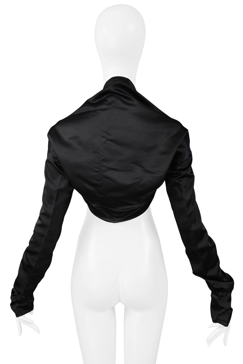 DOLCE BLACK SATIN SHRUG