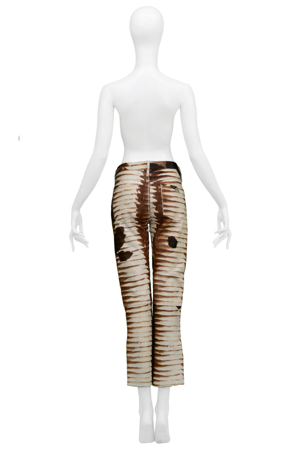 FENDI ANIMAL PRINT PANTS 1999