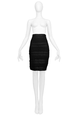 FERRE BLACK HIGH WAIST SKIRT