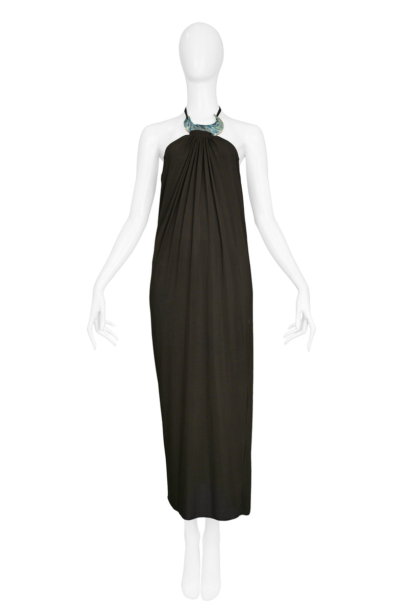 GAULTIER ABALONE HALTER WRAP GOWN 2000