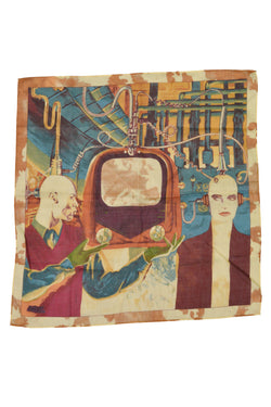 GAULTIER TELEVISION DROID SCARF