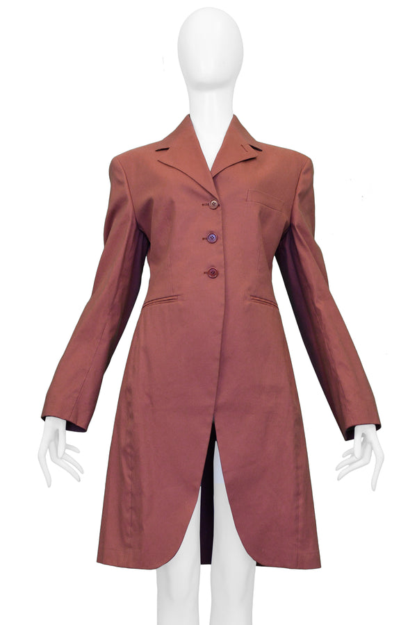 ROMEO GIGLI DUSTY PINK RIDING COAT