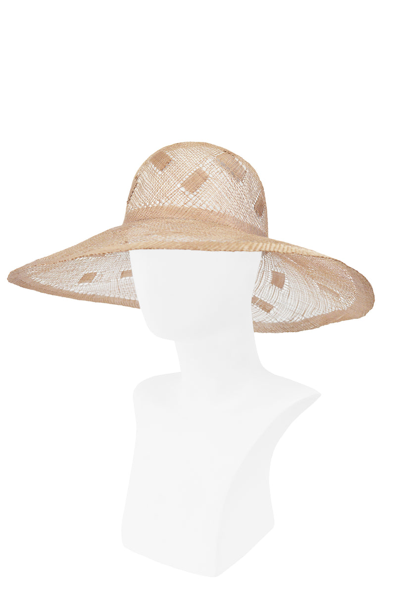 GIVENCHY OPEN WEAVE STRAW SUN HAT
