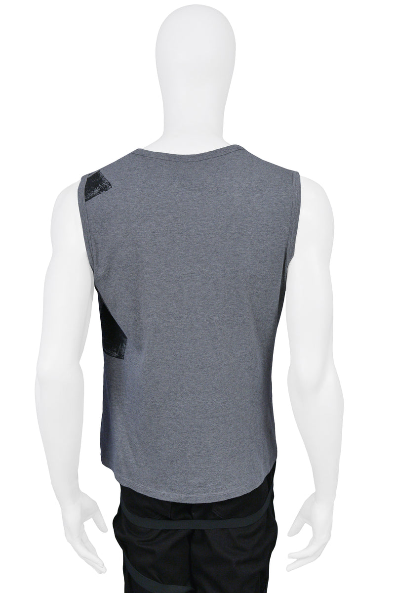 HELMUT LANG GREY & BLACK TANK TOP 2003