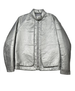 HELMUT LANG 1999 SILVER FLAT ASTRO JACKET
