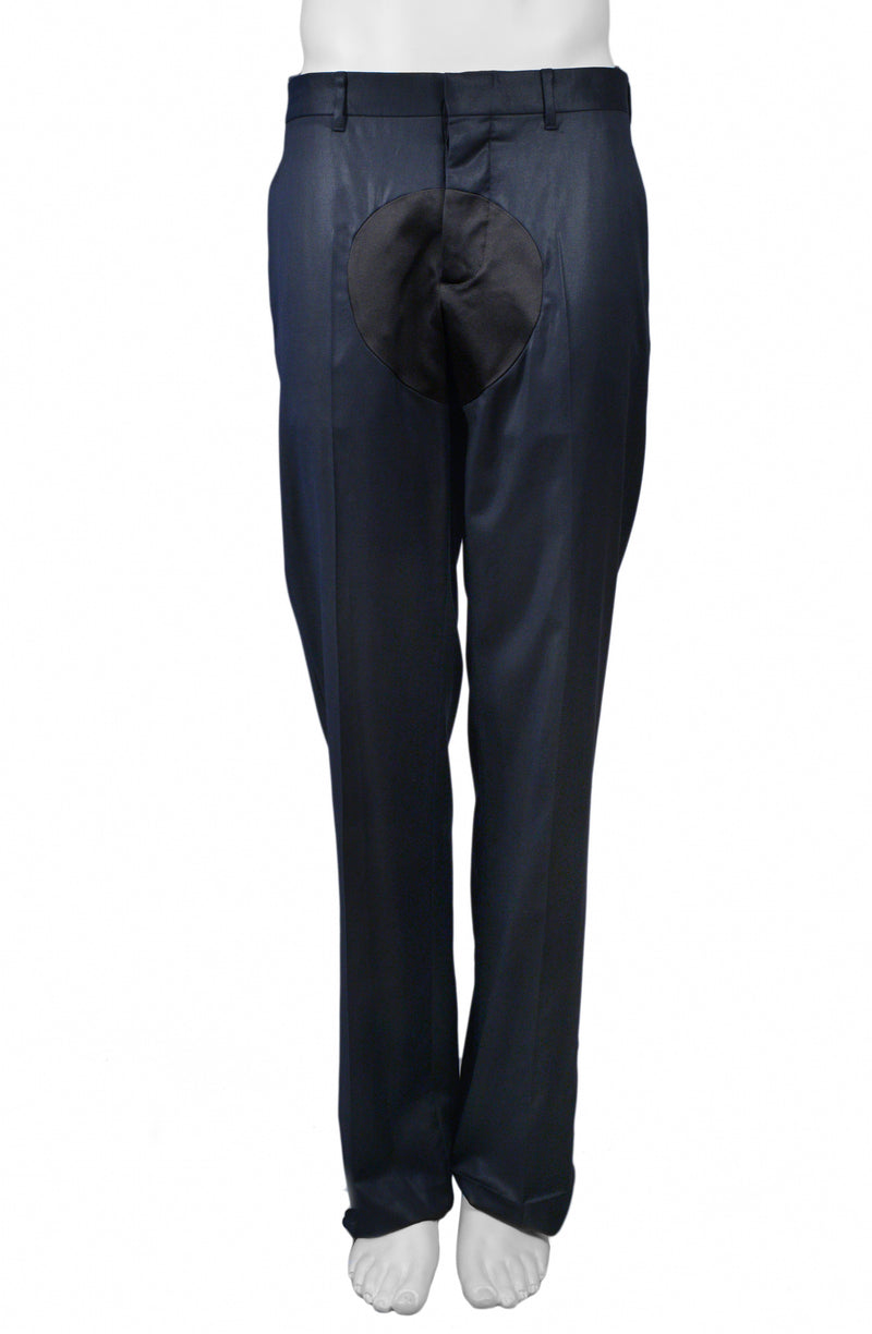 HELMUT LANG NAVY MENS PANTS W BLACK DOT 2004 AW