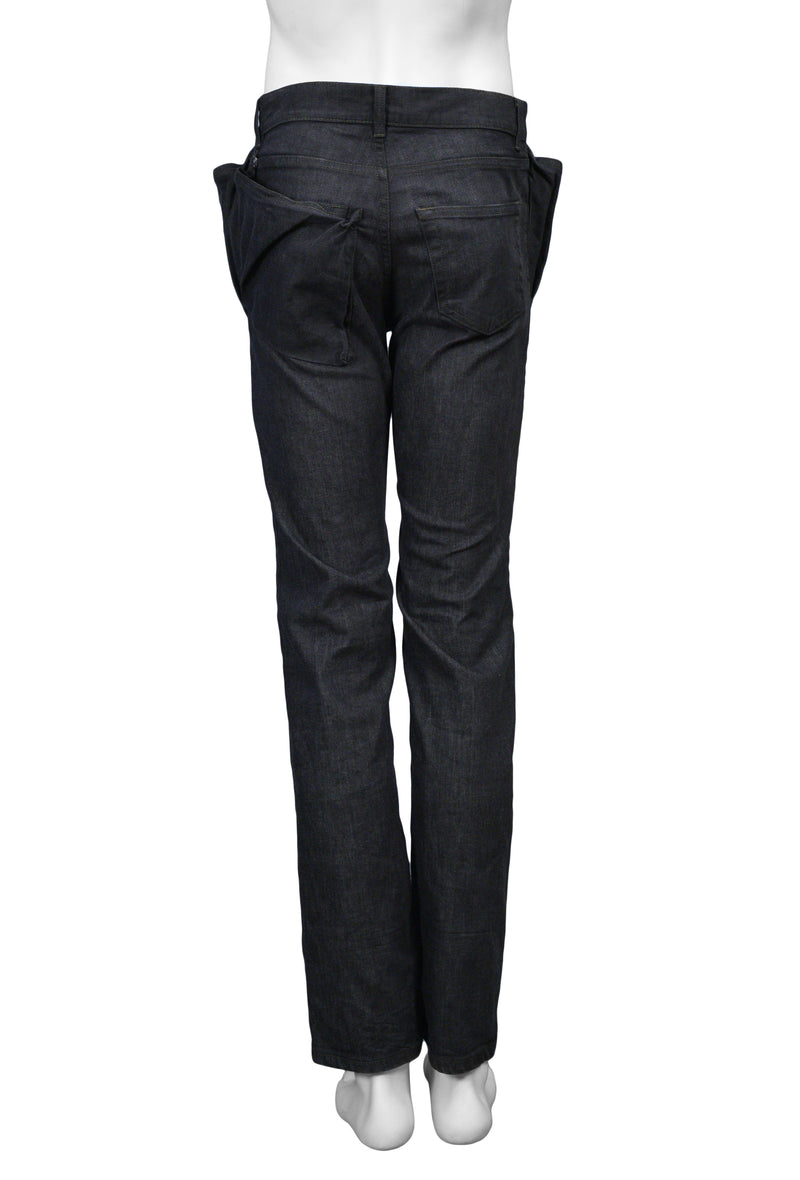 HELMUT LANG BLACK WING POCKET JEANS PANTS 2004