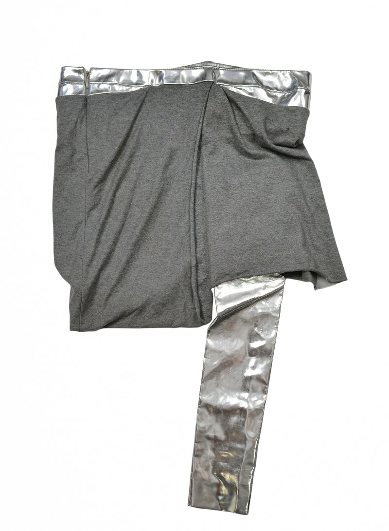 HELMUT LANG SILVER & HEATHER GREY SKIRT 2004