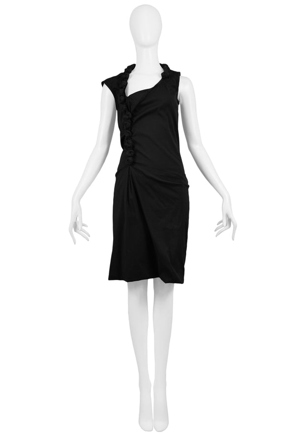 HELMUT LANG BLACK KNOT DRESS 2005