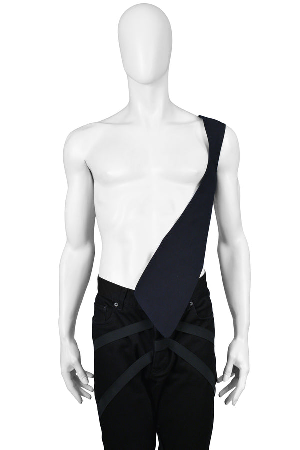 HELMUT LANG NAVY BLACK SHOULDER VEST 1