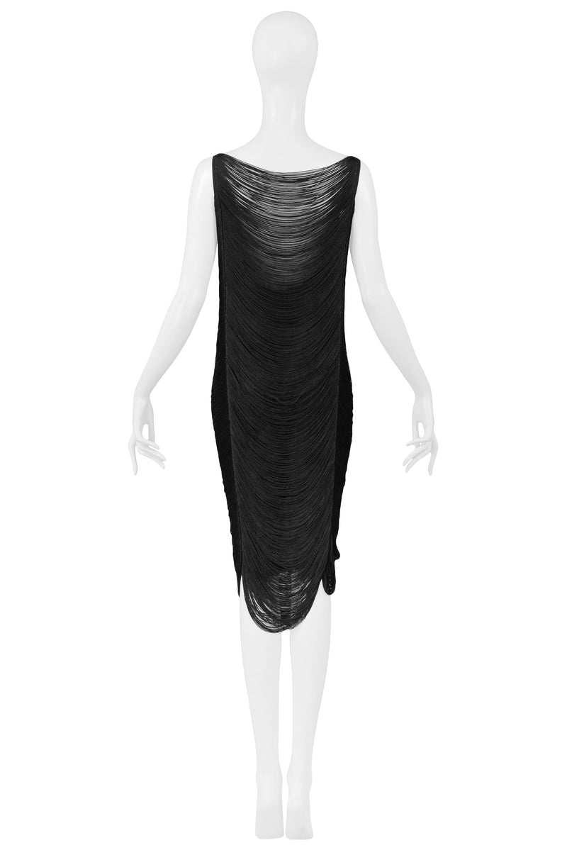 JIL SANDER NAVY FRINGE RUNWAY DRESS BY RAF SIMONS 2009